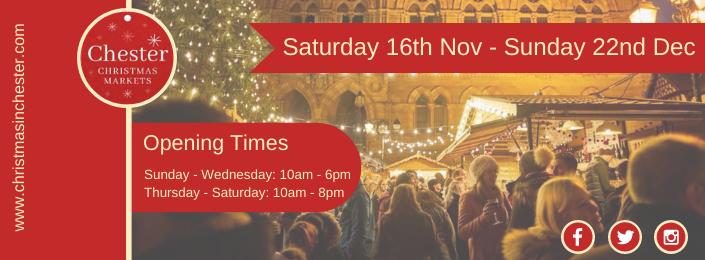 Chester Christmas Market 2019 @ Chester Nov 16 – Dec 22