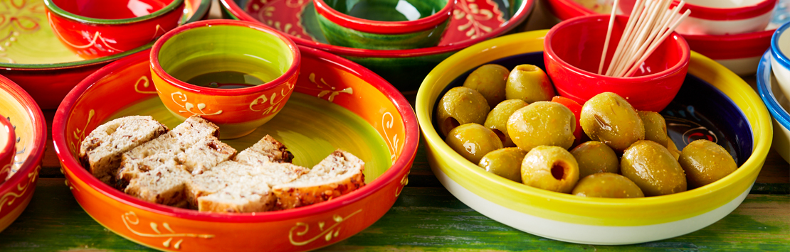 Ceramic kitchenware for tapas